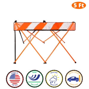 5 Foot - Orange - Safety Barricade - Flex Safe