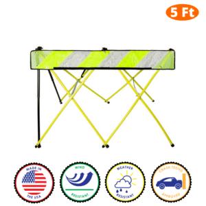 5 Foot - Yellow - Safety Barricade - Flex Safe