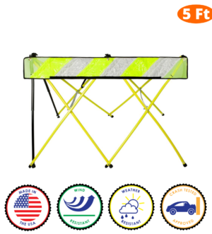 5 Foot - Yellow - Safety Barricade - Flex Safe