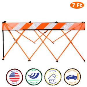 7 Foot - Orange - Safety Barricade - Flex Safe