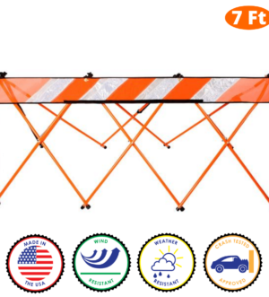 7 Foot - Orange - Safety Barricade - Flex Safe