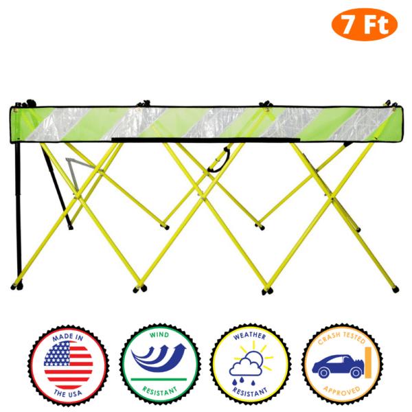 7 Foot - Yellow - Safety Barricade - Flex Safe