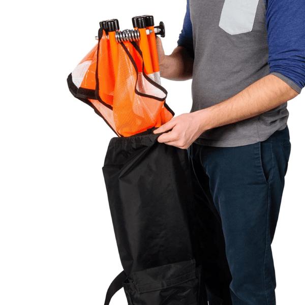 Easily Stows Away - Orange - Flex-Safe Safety Barricade