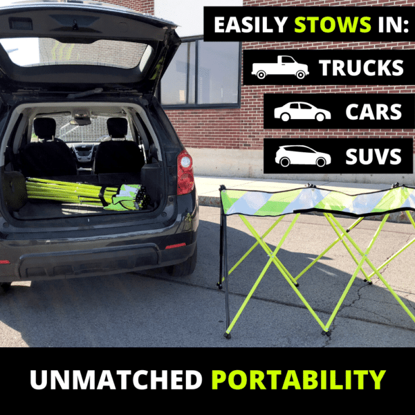 Easily Stows in Vehicles - Flex Safe- Safety Barricades