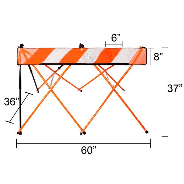 5ft - Orange - Sizing - A Plus Content - Flex Safe - Barricades