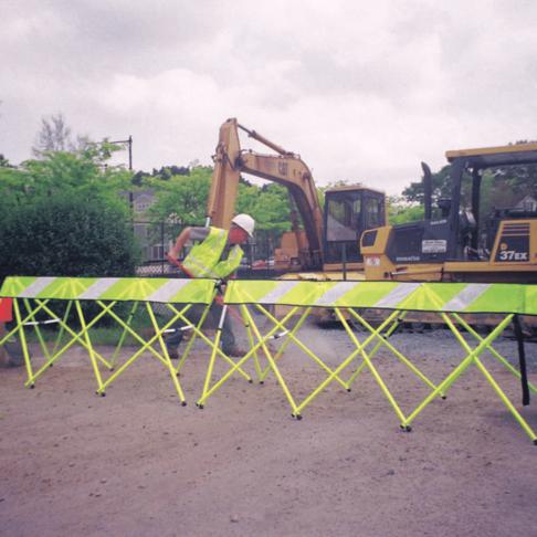 Yellow - Construction Work - Flex Safe - Safety Barricade