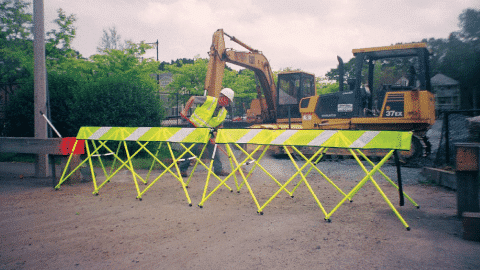 Lifestyle Image - Yellow - Flex Safe - Barricades
